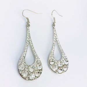 New! Shiny Classic Crystals Rhinestones Earrings